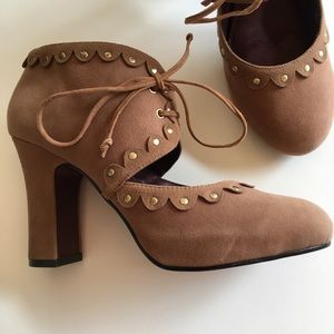 NEW POETIC LICENSE leather Mary Jane booties 7.5